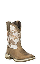 Lil' Rebel by Durango Kid's Dusty Brown and Desert Camo Square Toe Western Boot