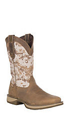 Rebel by Durango Men's Dusty Brown Desert Camo Pull-On Square Toe Western Boots