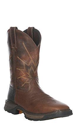 Durango Maverick XP Men's Tobacco Ventilated Square Steel Toe Work Boots