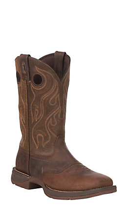 Durango Men's Rebel Sunset Brown Pull On Square Toe Western Boot - Cavender's Exclusive