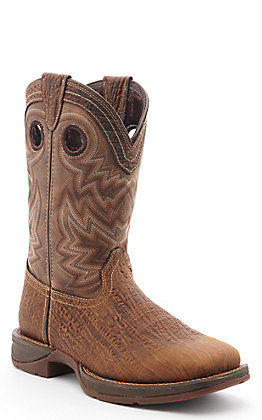 Durango Rebel Men's Brown Western Square Toe Boots