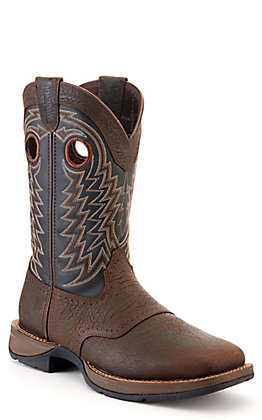 Durango Men's Rebel Pro Brown and Black Wide Square Toe Western Boots - Cavender's Exclusive