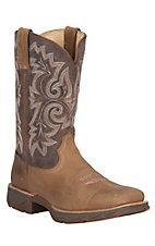 Lady Rebel by Durango Women's Tan with Brown Top Square Toe Ramped-Up Western Boot