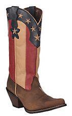Durango Crush Women's Stars and Stripes Flag Snip Toe Western Boot