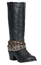 Durango Philly Women's Black Customizable Accessory Round Toe Western Boots
