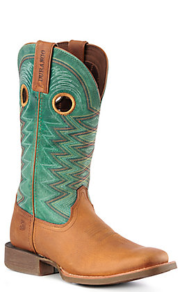 Durango Lady Rebel Pro Women's Wheat and Teal Square Toe Western Boots