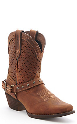 Durango Crush Women's Bomber Brown Snip Toe Western Boots