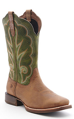 Durango Lady Rebel Pro Women's Dusty Brown and Olive Green Western Square Toe Boots