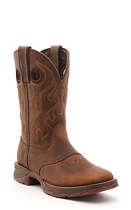 Durango Women's Rebel Trail Brown Wide Square Toe Western Boots - Cavender's Exclusive