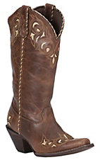 Crush by Durango Women's Sandy Brown Sew Sassy Snip Toe Western