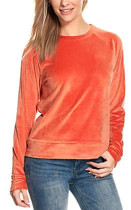 Double Zero Women's Chili Velour Long Sleeve Top