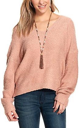 Double Zero Women's Misty Rose V-Neck Sweater