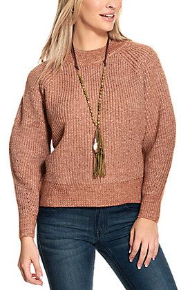 HYFVE Women's Hazelnut Chunky Crochet Sweater