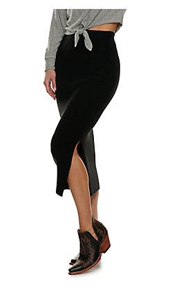 Double Zero Women's Black Long Sweater Skirt