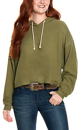 Double Zero Women's Olive Grove Fleece Long Sleeve Hoodie