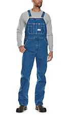 Round House Made in the USA Stonewash Denim Overalls
