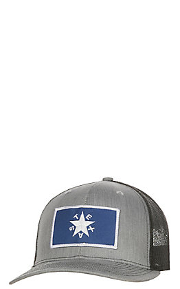 Grey and Black Texas Star Patch Snapback Cap