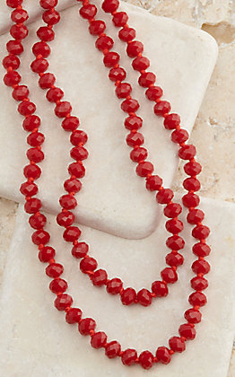 Ashlyn Rose The Essentials Lipstick Red 60 Inch Beaded Necklace