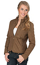 Montana Co Women's Brown Long Sleeve Quilted Jacket