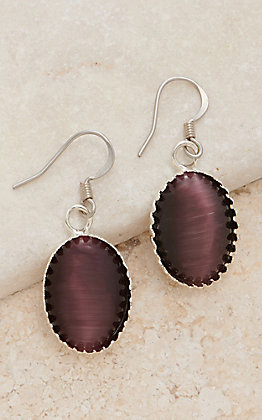 Cowboy Collectibles Lilac Oval Cabochon Dangle Earrings