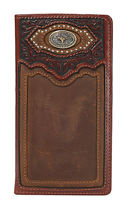 Silver Creek Brown Cattle Driven Aged Bark Checkbook