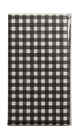 Park Hill Black & White Gingham Check Paper Dinner Napkins / Guest Towels - 20 Count