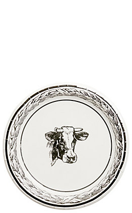 Park Hill Black & White Cow Paper Dinner Plates - 8 Count