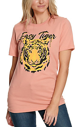 Country Deep Peach Easy Tiger Short Sleeve T-Shirt