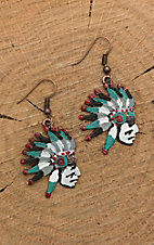 Southern Junkie Indian Head Dangle Earrings
