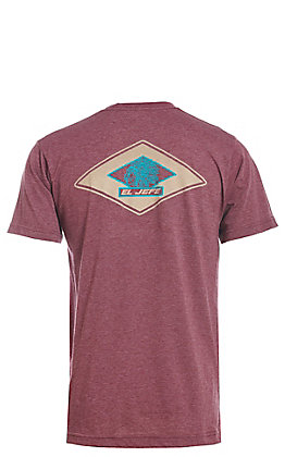 Stackin Bills Men's Burgundy EL JEFFE Short Sleeve T-Shirt
