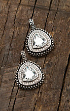 Montana Silversmiths Western Drop Rounded Triangle Post Earrings