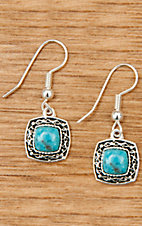 Montana Silversmiths Silver Blue Earth Turquoise Drop Earrings