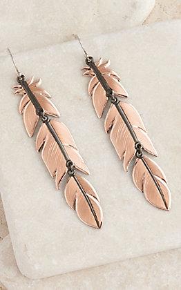 Montana Silversmiths Nighthawk Feather Earrings