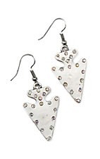 Southern Junkie Silver Arrowhead with Bling Earrings