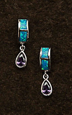 Montana Silver Smith River Lights Purple Tears Earrings