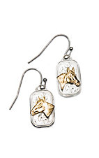 Montana Silversmiths Mini Token Portrait of a Horse Earrings