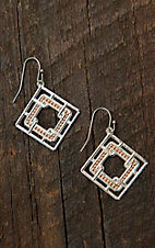 Montana Silversmiths Interlocking Square Dangle Earrings