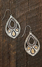 Montana Silversmiths Twisted Rope Paisley Dangle Earrings