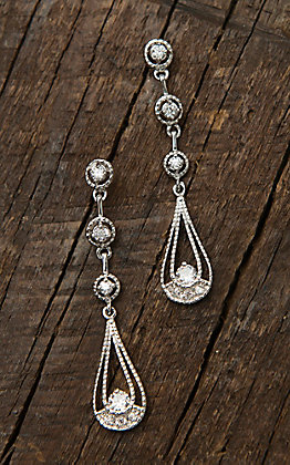 Montana Silversmiths Three Tiered Raindrop Dangle Post Earrings