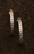Montana Silver Smith CrossCut Bright Banded Mosaic Hoop Earrings