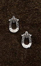 Montana Silversmiths Studded Ice Horseshoe Earrings