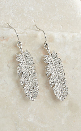 Montana Silversmiths Shimmering Feather Earrings
