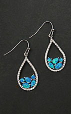 Montana Silver Smith River of Lights Tumbled Stones Teardrop Earrings