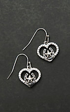 Montana Silversmiths Star of My Heart Horseshoe Earrings