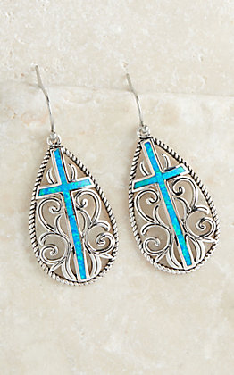 Montana Silversmiths Filigree Water Lights Cross Earrings