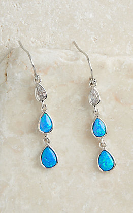Montana Silversmiths River of Lights Falling into Water Earrings