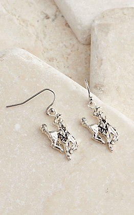 Montana Silversmiths Classic Beauty Antiqued Silver Bucking Horse Earrings