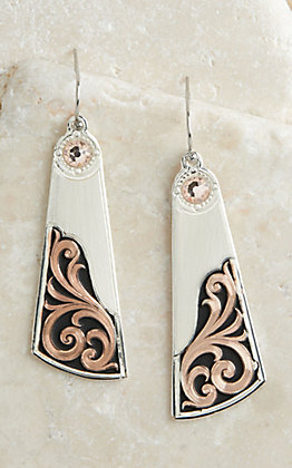 Montana Silversmiths Silver Over the Horizon Rose Gold Earrings
