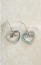 Montana Silversmiths Follow Your Arrow Opal Heart Earrings