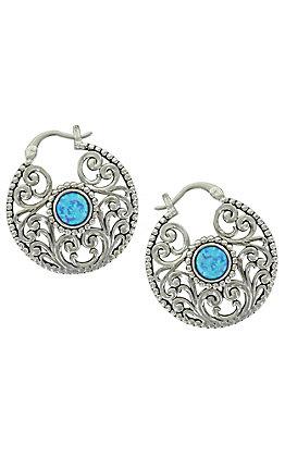 Montana Silversmiths Along the Garden Pond Opal Earrings